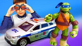 Видео про игрушки. Оптимус Прайм летает! Трансформеры, Черепашки Ниндзя и Айронмен в автомастерской!