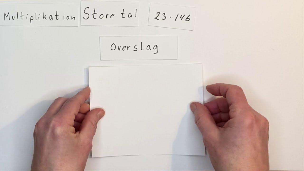 Multiplikation store tal