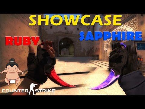 CS:GO - Ruby & Sapphire Showcase + Bonus Insane Redline