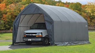 ShelterLogic Garage and Shelter Series SUV and Truck Garage In A Box With Easy Slide Cross Rail