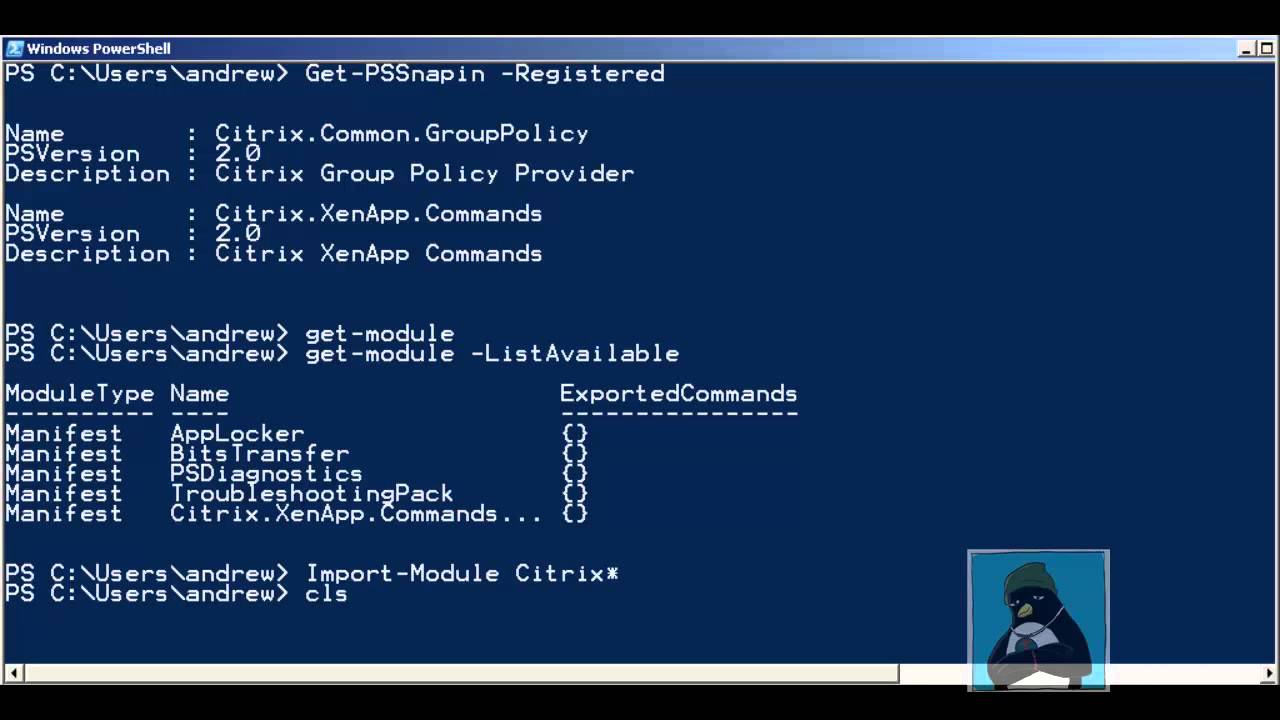 PowerShell Snapins and Modules