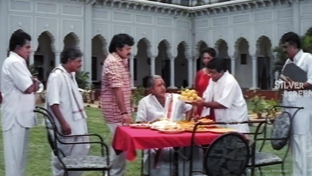 Chiranjeevi And Vijay Kumar Funny Laddu Comedy Scene | Telugu Comedy Scenes | Silver Screen Movies