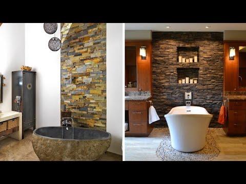 Sensational Bathroom Designs With Stone Wall Decoration Ideas Interior Decor Designs Youtube