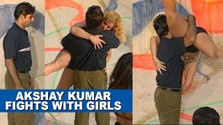 Akshay Kumar's Flashback on his BIRTHDAY! Fighting with Girls from SETS of 'International Khiladi'