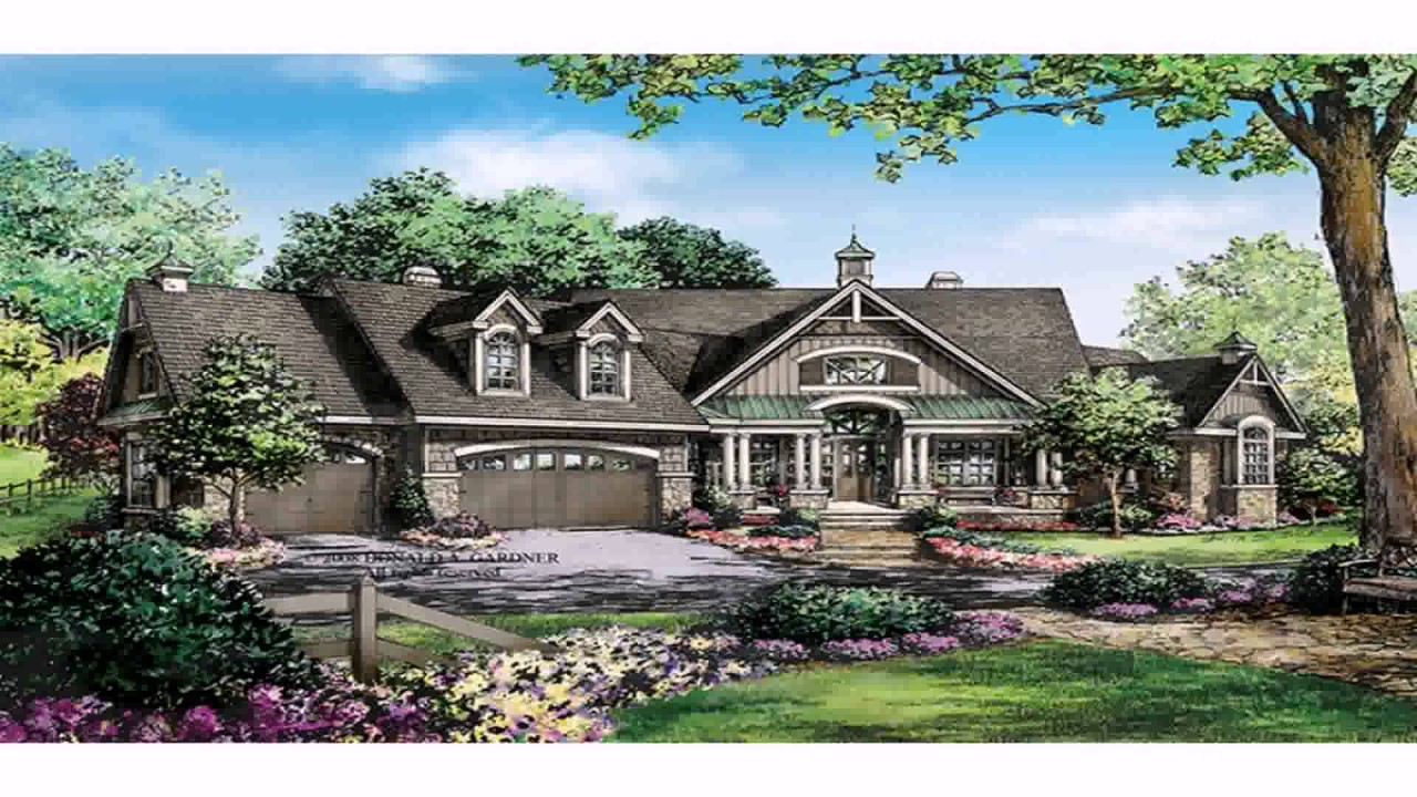 Ranch Style House Plans 2 Story   YouTube