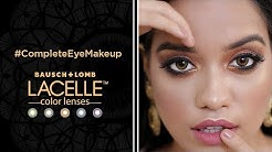 #CompleteEyeMakeUp with the Lacelle Brown Color Lenses for Your Go-To Festive Look