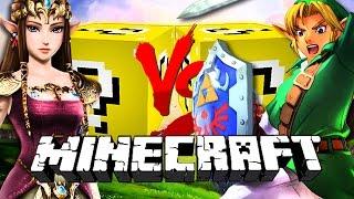 Minecraft: ZELDA LUCKY BLOCK CHALLENGE | Link vs Link
