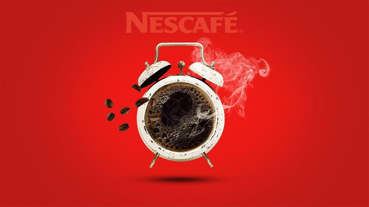 Advertising  Photo Design Nescafe in Photoshop