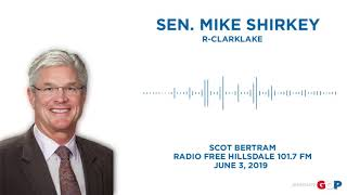 Sen. Shirkey discusses auto insurance reform on Radio Free Hillsdale