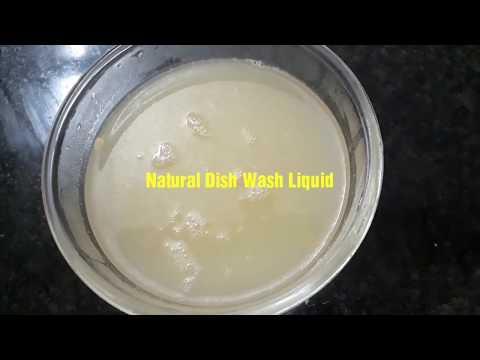100% NATURAL DISH WASH Liquid || DIY Homemade Liquid Detergent