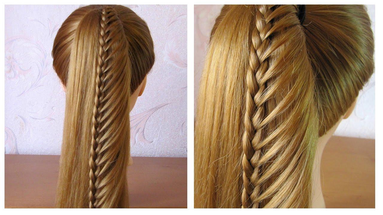 Queue de cheval tressée ★ Tuto coiffure cheveux mi long/long facile /pour  tous les jours