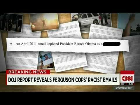 CNN:Ferguson's Racist Emails Released White&Black Americans Must UNITE!