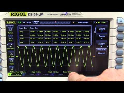 EEVBlog #704 - Rigol DS1054Z Oscilloscope Features Review