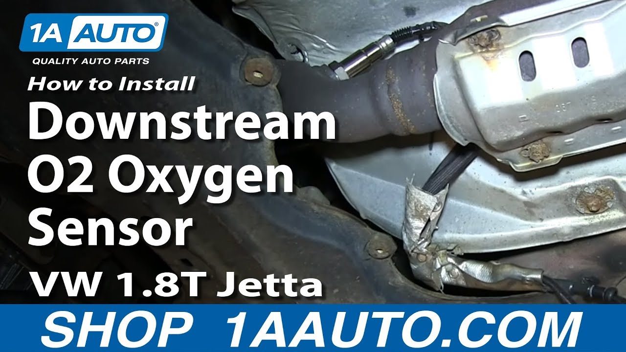 How To Install Replace Downstream O2 Oxygen Sensor Vw 1 8t