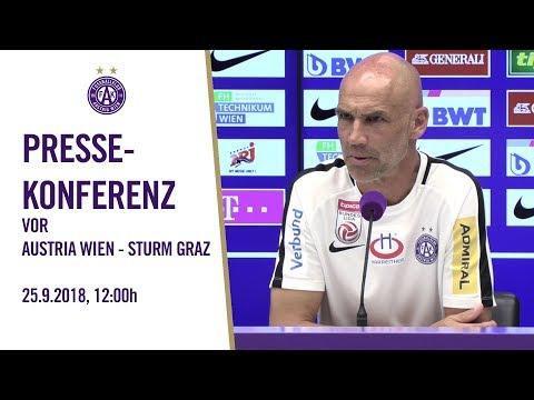 Pressekonferenz vor Austria Wien - SK Sturm Graz
