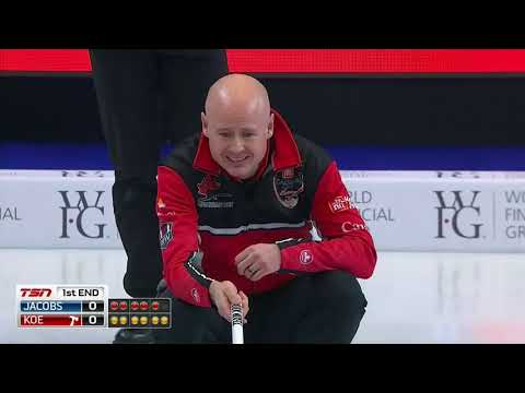 2018 Home Hardware Canada Cup of Curling - Koe vs. Jacobs (Draw 1)