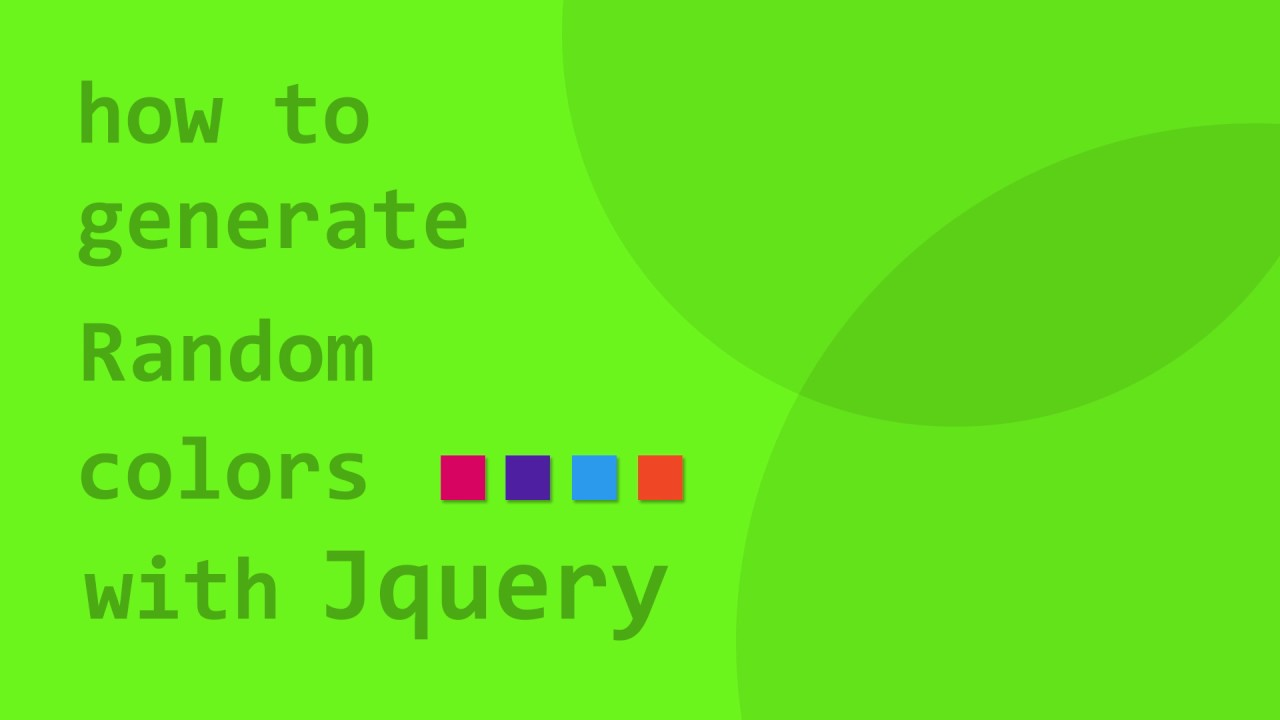 HowTo : Generate Random Colors on Webpage using Jquery - YouTube