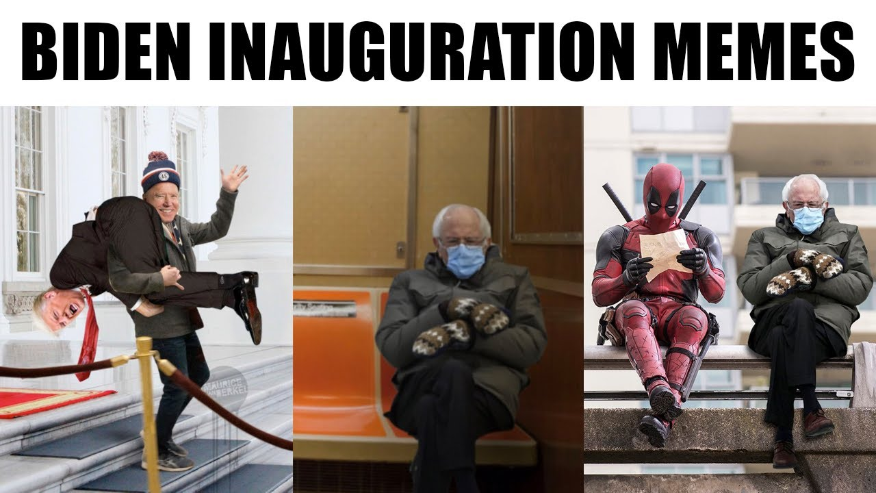 Biden Inauguration Memes Bernie Inauguration Memes Meme Compilation Youtube