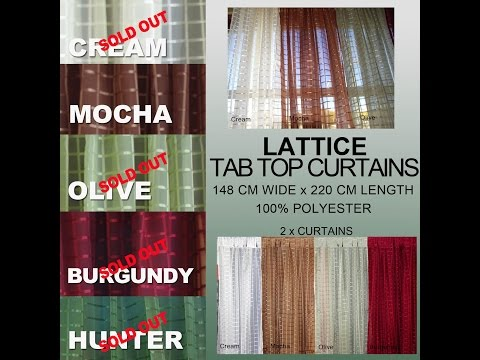 Buy online Lattice Sheer Tab Top Curtains (Double) – Curtains ...