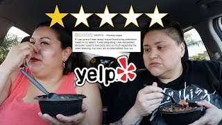 SHE FOUND A BUG IN HER FOOD! Yelp 1 Star Review!