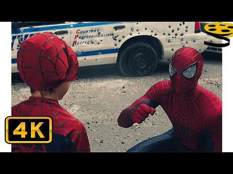 Человек-Паук против Носорога. Финальная Сцена | Новый Человек-паук: Высокое напряжение (2014) | HD