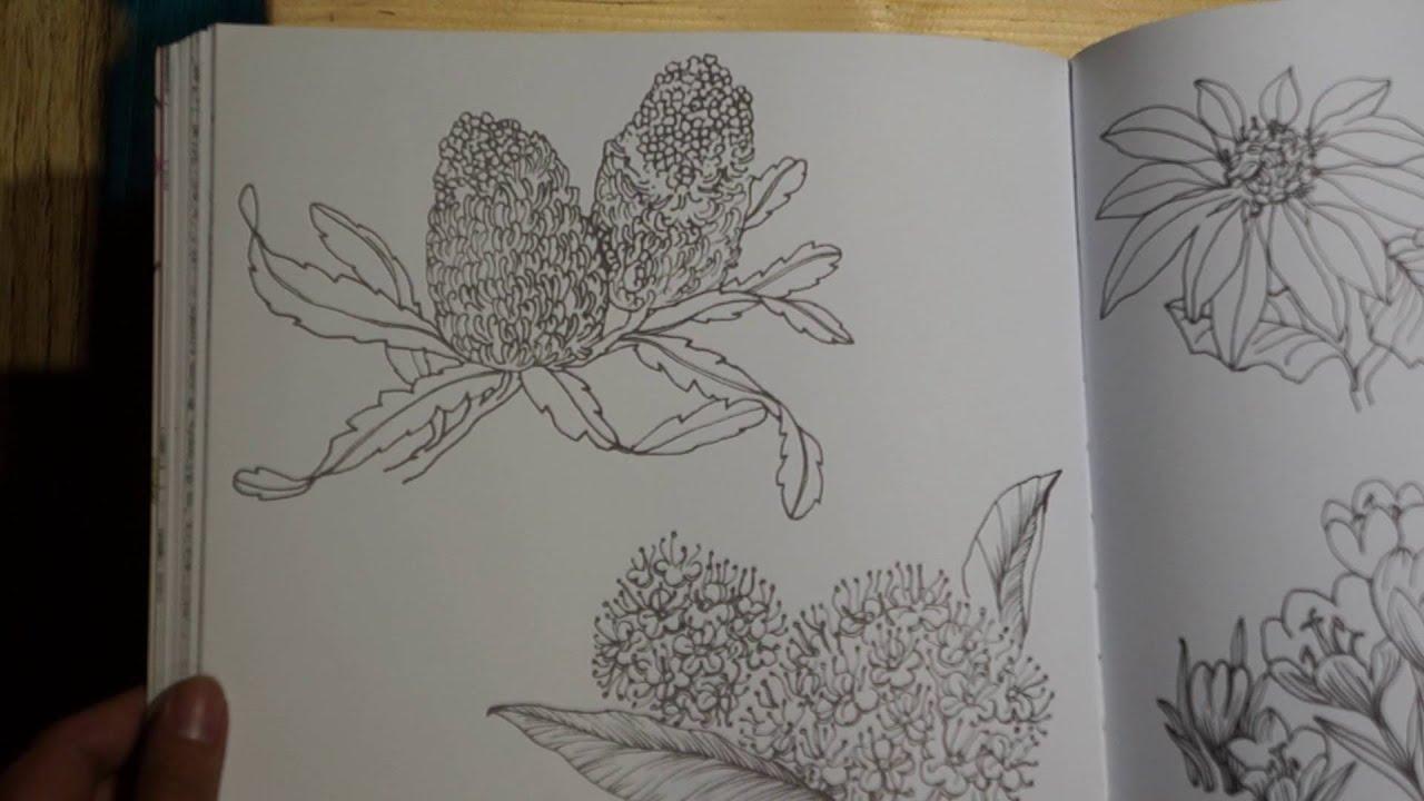 Magical Garden Coloring Book Flip