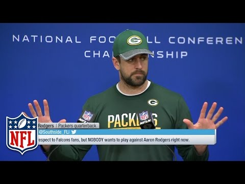 "Aaron Rodgers Championship Wednesday Presser, ""Size Matters"" 