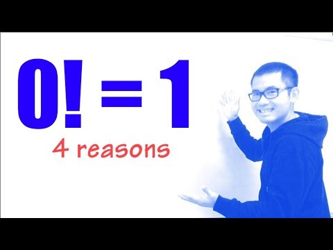 zero factorial, why 0! should be 1, 4 reasons