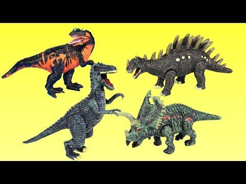 Dinosaur Toys For Kids - Dinosaurs Tyrannosaurus Rex Parasaurolophus Triceratops