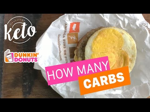 Dunkin Donuts - Sausage Egg and Cheese - how many carbs: Keto diet on the go