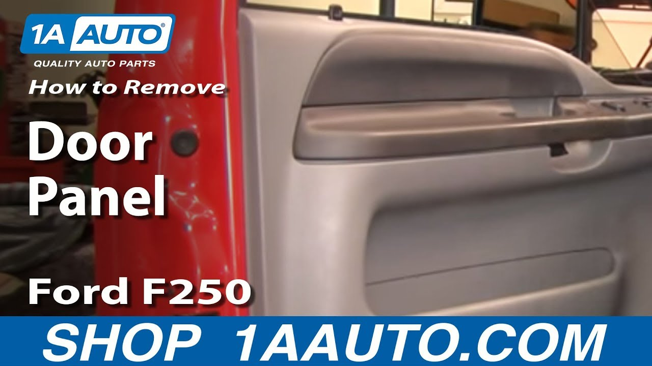 How To Remove Door Panel 99 07 Ford F250 Super Duty Youtube