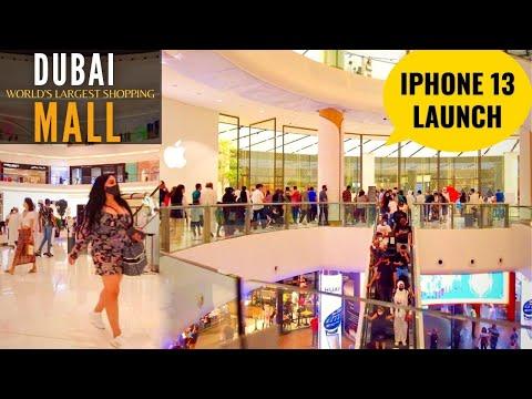 Dubai Mall iPhone 13 Launch 2021 | The World's Largest Mall | Fashion Avenue Dubai Mall Walking Tour