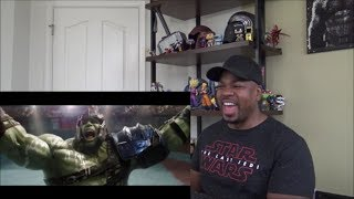 "Thor Ragnarok ""Hulk Battle"" Clip - REACTION!!!"