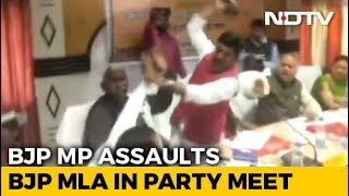 Watch BJP Lawmakers Thrash Each Other With Shoes In Fight For Credit