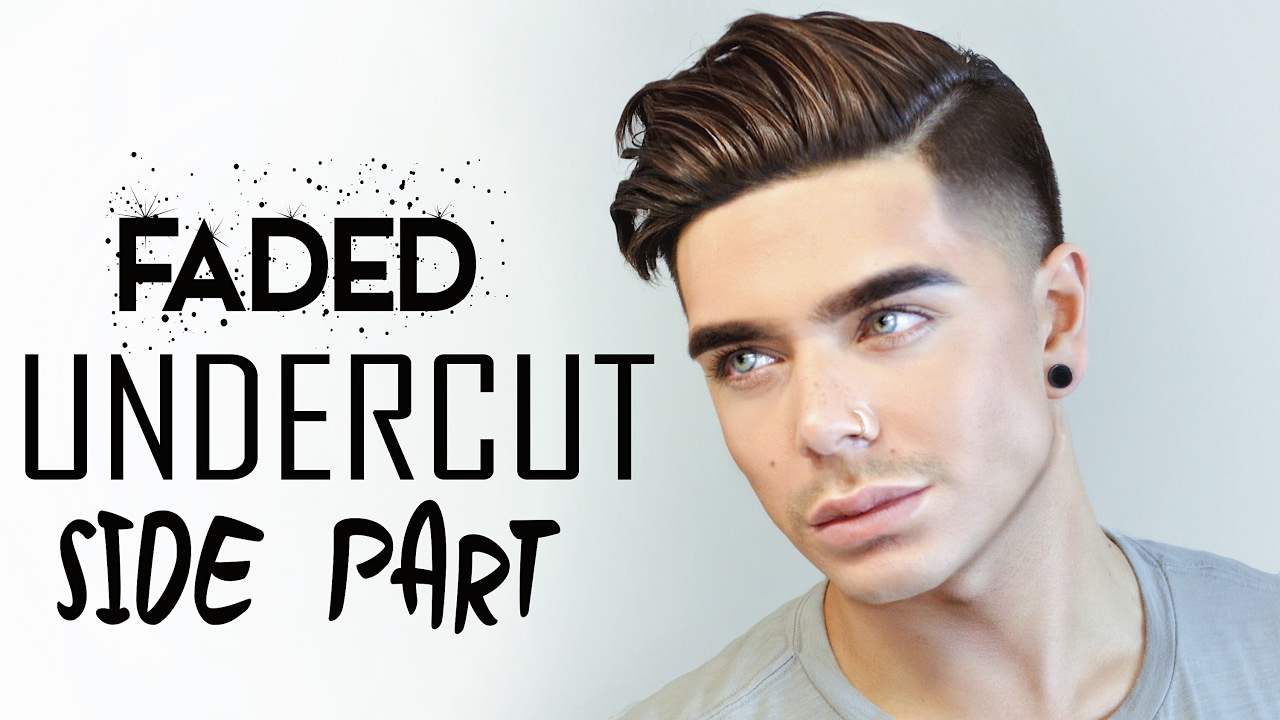 2017 men's hairstyle | faded undercut side part - youtube