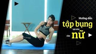 Hướng dẫn Tập bụng tại nhà cho nữ - Cách tập bụng giảm mỡ HIỆU QUẢ. thumbnail