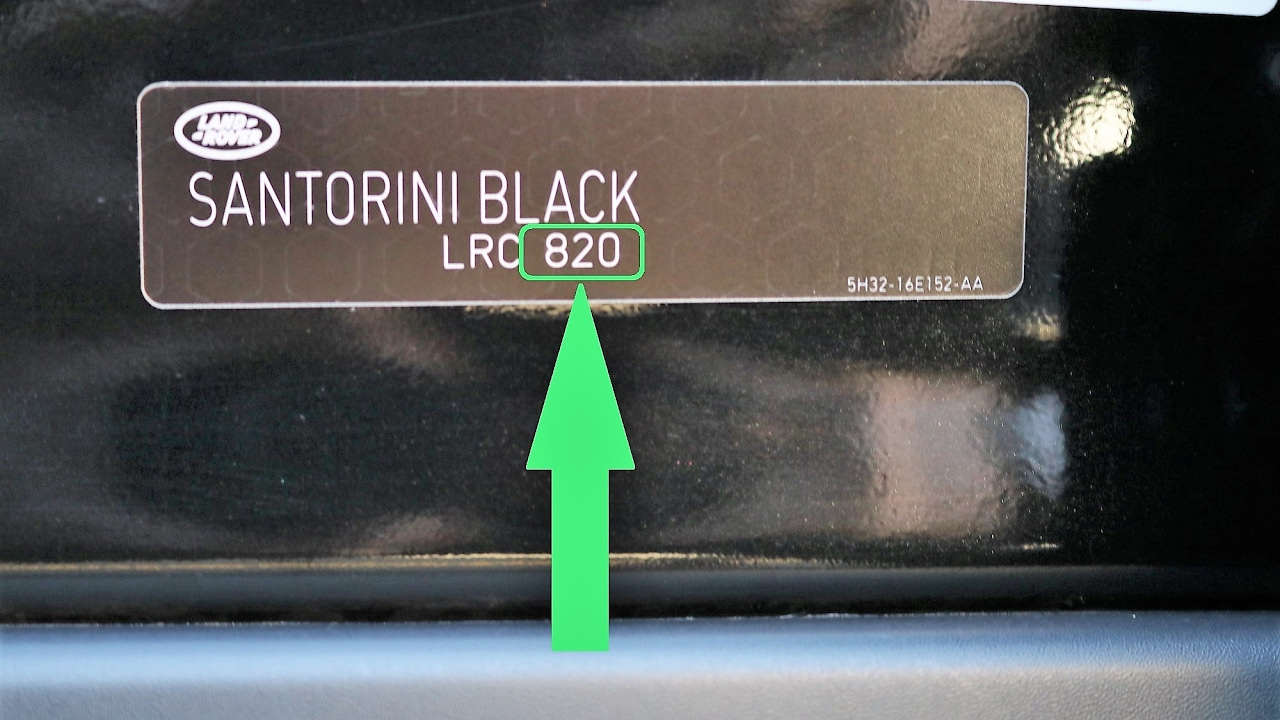 How To Find Your LAND ROVER Paint Code