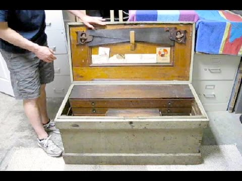Reveal Contents Of An Antique Wooden Tool Chest   Chop With Chris
