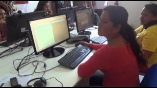 Periodistas de San Martín, Huánuco y Ucayali visitando el Telecentro de Aucayacu