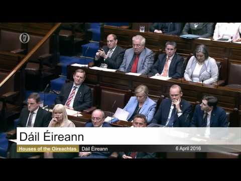 Thomas Voting against the Taoiseach April 2016
