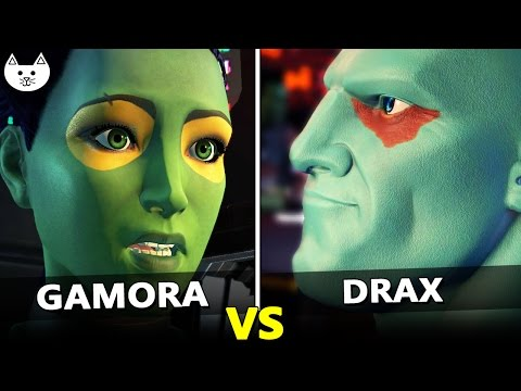 CHOOSE GAMORA vs CHOOSE DRAX - Guardians Of The Galaxy Game Episode 1 Choices Difference Check