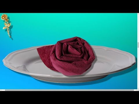 pliage de serviette 🍽 : rose 🌹 très facile - youtube