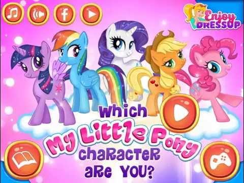 Worksheet. Video Game  Which My Little Pony Character Are You  Enjoydressup