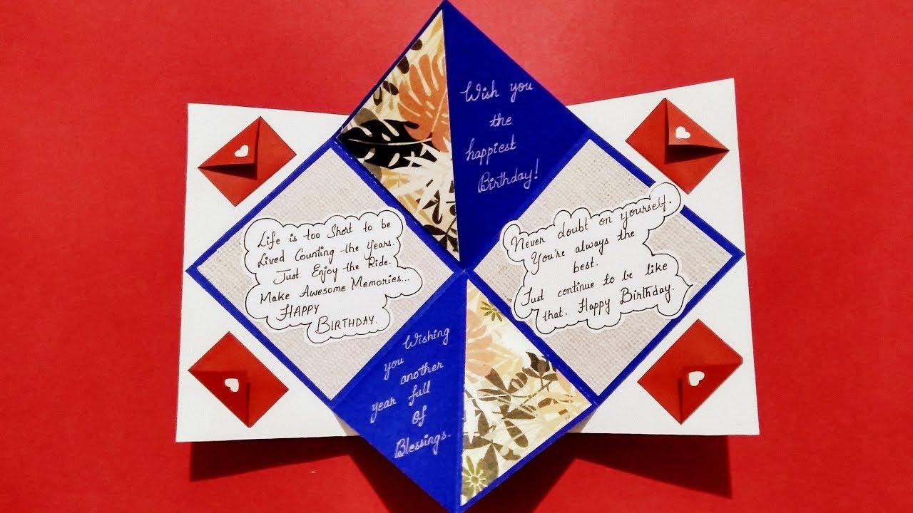 Beautiful Birthday Card Idea For Best Friend Handmade Birthday Card Idea Complete Tutorial Youtube