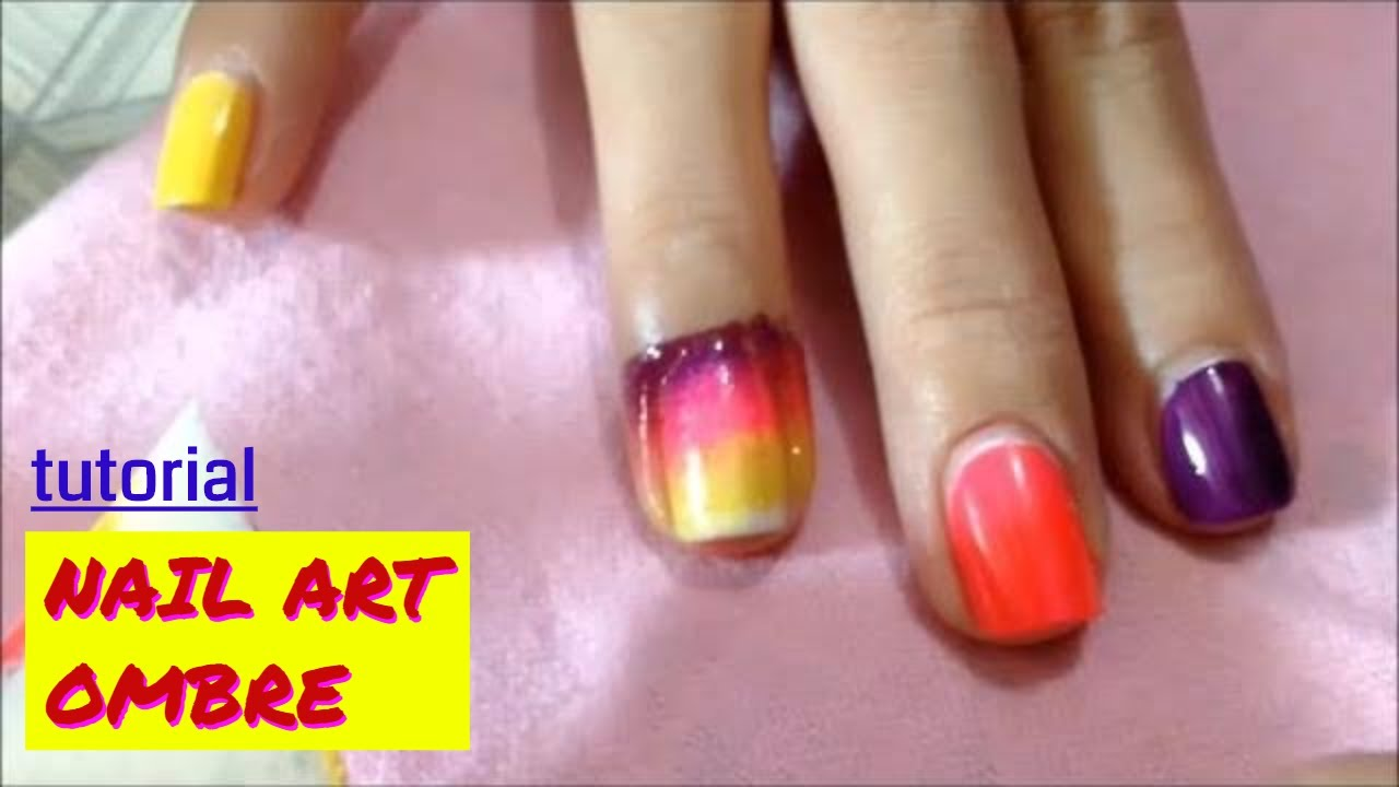 Nail Art OMBRE Sponge Easy manicure Tutorial - YouTube