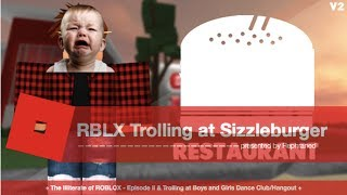 ROBLOX Trolling at Sizzleburger Restaurant | FREE RANKERS?
