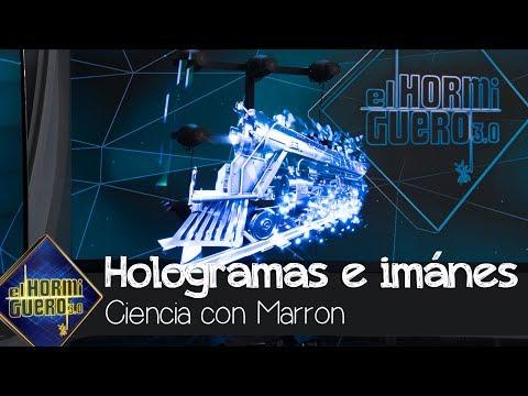 Bonnie Tyler alucina con la ciencia de Marron: Hologramas, imanes e hidrofobia - El Hormiguero 3.0