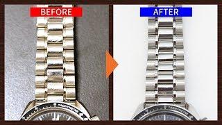 いとも簡単に時計の小傷が消える!プロが行なう研磨の技術。