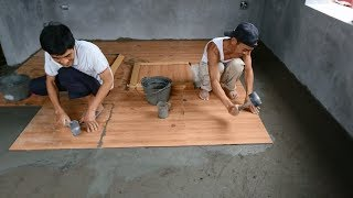 Excellent Building Bedroom Floor With Sand, Cement & How To Install Ceramic Tiles Step By Step