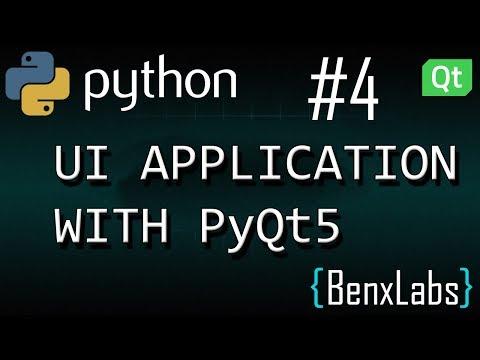 Python UI application with Qt designer #4 (Widget List)